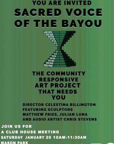 Sacred Voice of the Bayou flyer