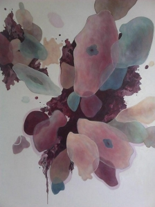 """""""Creation,""""  Acrylic on Canvas,  30 x 40,  2017"""